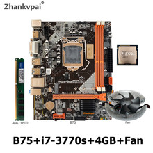 Lga 1155 B75 Memory SATA DDR3 Intel Desktop Hdmi DVI VGA with Intel-Core-I7-3770s-Cpu