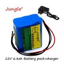 100% 12V 6.8 Ah 18650 D'origine 12V Avec Panneau De Protection De Batterie Au Lithium BMS + Chargeur