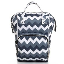 Blue Zigzag Pattern Mother Baby Backpack