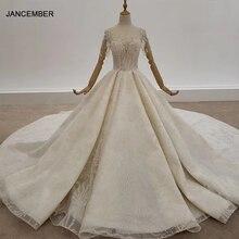 HTL1314 Train With Rhinestone Wedding Dress Bead Applique Top Ball Wedding Gowns Faek Deep V Boho Свадебное Платье