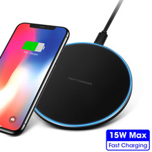 15W max Qi Fast Wireless charger for Samsung S10 S9 Note 9 for iPhone XS Max X 8 XR Huawei P30 Pro Xiaomi Mi 9 10W Charging Pad