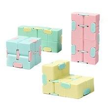 Infinity cube fidget brinquedo palma alívio do estresse brinquedos para dedos adultos ferramenta sensorial brinquedo de descompressão