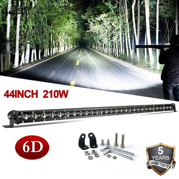 CO LIGHT 6D LED Light Bar 210W 44 LED Bar Single Row Combo Work Light 12V DRL for ATV SUV Truck Tractor Boat Auto Driving Light co light 12d 3 row car led light bar combo 32 405w led work light for tractor truck atv jeep led bar offroad auto driving light