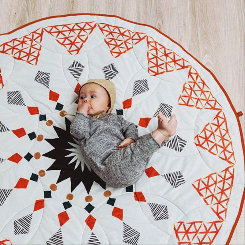 Geometric Rhombusd Kids Baby Crawling Mat Children Room Decoration Game Pad X5XE