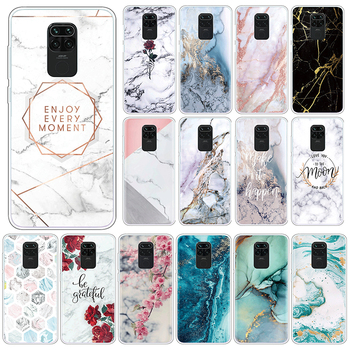 Marble Case For Xiaomi Redmi Note 9 10X 4G Soft Silicone Back Cover For Xiomi Redmi Note9 10 X 6.53 Phone Cases TPU Funda Coque image