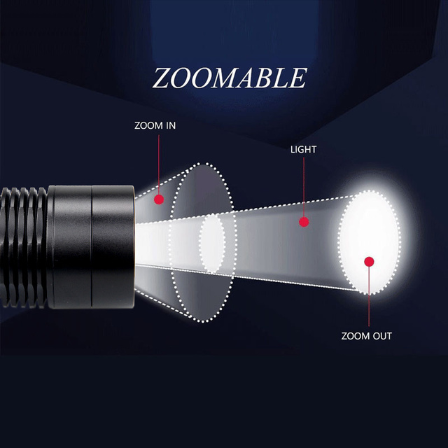 C11 Tactical Zoomable Hunting Flashlight XRE Red Green White Predator Light LED Focus Adjustable Torch Outdoor Rifle Gun Light 2