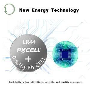Image 2 - 100 шт. PKCELL LR44 AG13 1,5 V 357A A76 303 SR44SW SP76 L1154 RW82 RW42 термометр Батарея Кнопка ячейки щелочные батареи