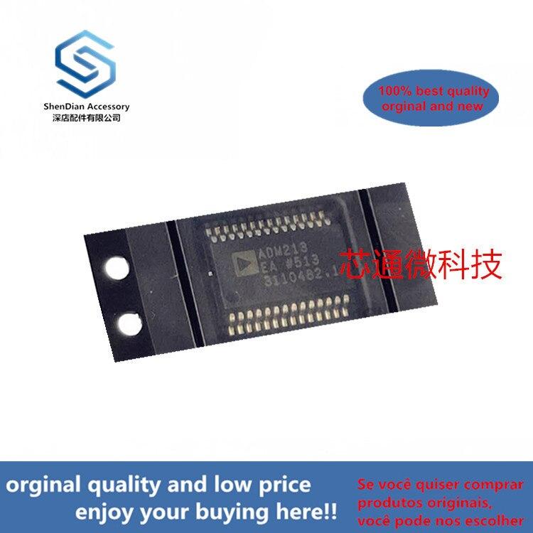 10pcs 100% Orginal New Best Qualtiy ADM213EARSZ ADM213 SSOP-28 RS-232  EMI/EMC-Compliant, ±15 KV ESDProtected( Can Work Perfect)