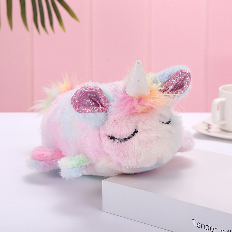 Unicorn Color Unicorn Doll Pen Bag Cosmetic Bag Storage Bag Dual Purpose Autumn And Winter New Manufacturer Wholesale