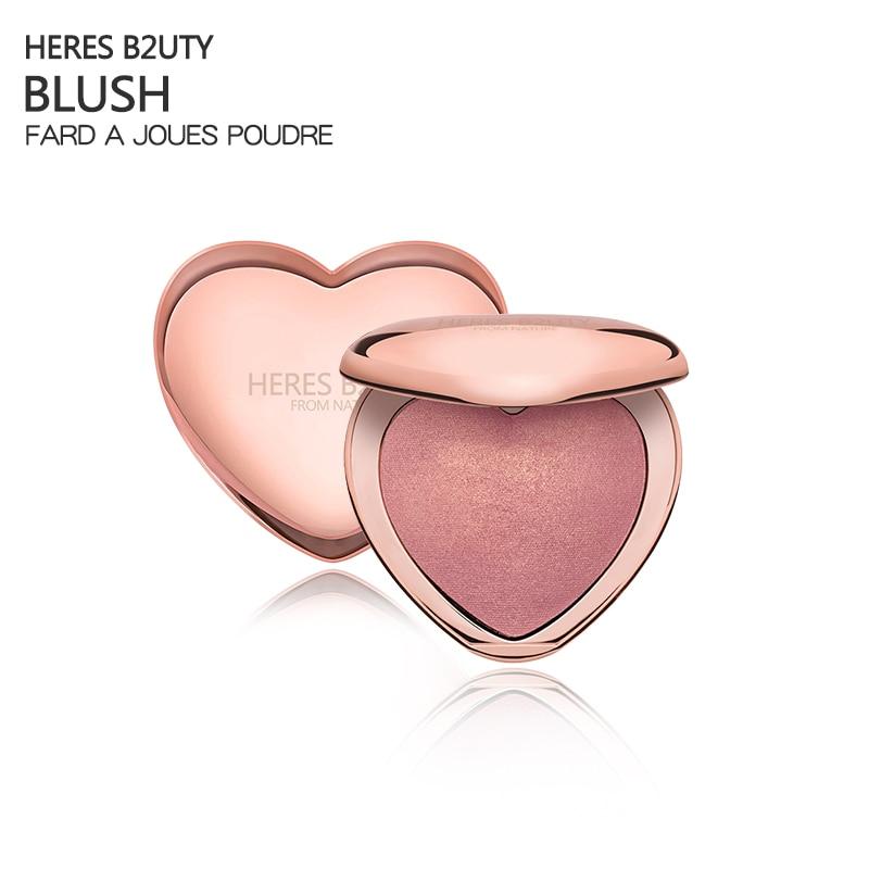 HERES B2UTY 4 Colors Face Mineral Pigment Blush Blusher Powder Long-lastingProfessional Palette  Blush Powder Contour Shadow