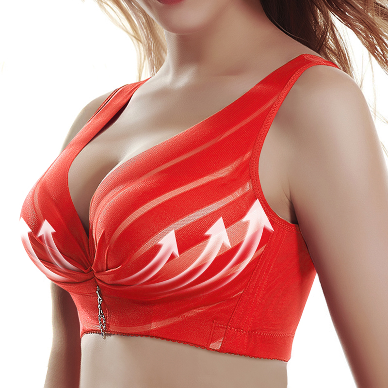 2020 Hot Full Cup Thin Underwear Push Up Bra Adjustable Lace Women's Bra Breast Cover B C D Cup Large Size Lace Bras image