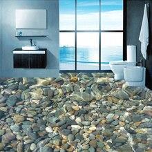 Özel döşeme duvar kağıdı 3D gerçekçi çakıl oturma odası yatak odası banyo zemin duvar PVC kendinden yapışkanlı duvar kağıdı duvar kaplaması