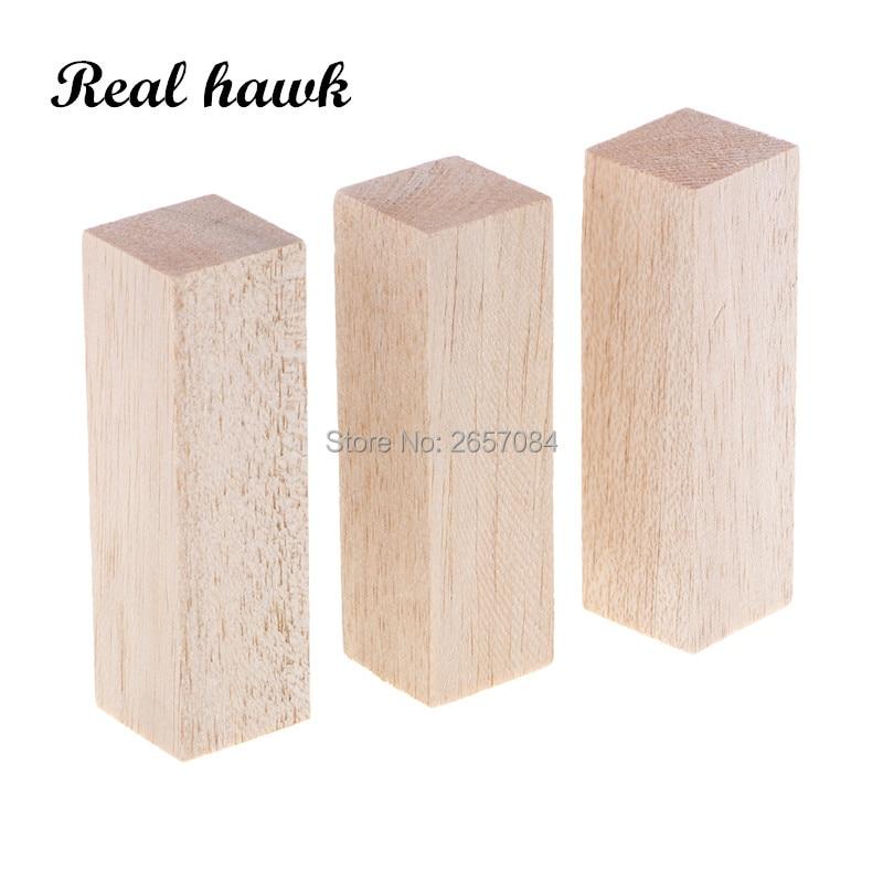 20x20mm Long 50/80/100/130/150mm Square Balsa Wood Stick Wooden Dowel Rod Block For Kids Model Making Ornaments DIY