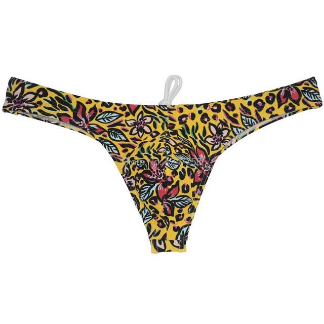 Sexy maillots de bain pour hommes Bikini string troncs Contour poche Tangas maillot de bain t-back Board Surf Shorts Bikini bas