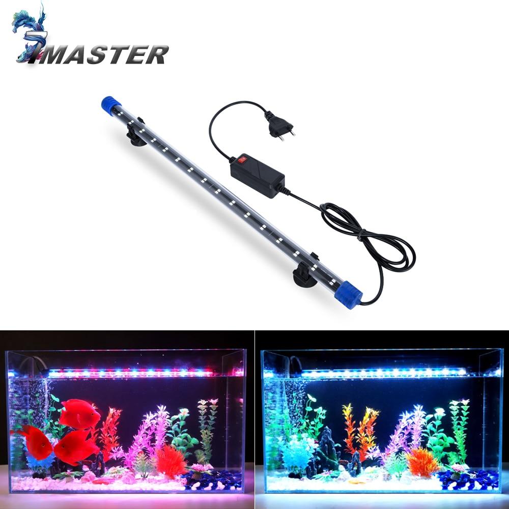 24-54 см аквариумный светильник аквариум погружной светильник водонепроницаемый подводный светодиодный светильник s аквариумный светильник ing