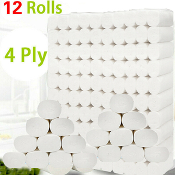 12 rolek 4 warstwy papier toaletowy papier do kąpieli w domu papier toaletowy papier podstawowy papier toaletowy z masy celulozowej papier toaletowy tanie i dobre opinie 12 3 x 12cm Virgin wood pulp HG20821A1 0 702kg