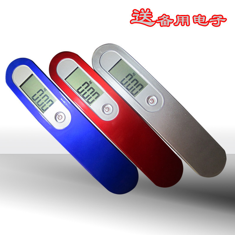 Luggage scale portable luggage scale precision electronic hand-held call 50KG/10G gift scale gold jewelry said image