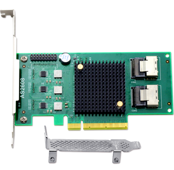 AS2608 6Gb/s SAS2.0 Control Card PCIe 8X chipset Marvell 88SE948X HostRaid0/1/10/5/JBOD 8port 2*SAS8087