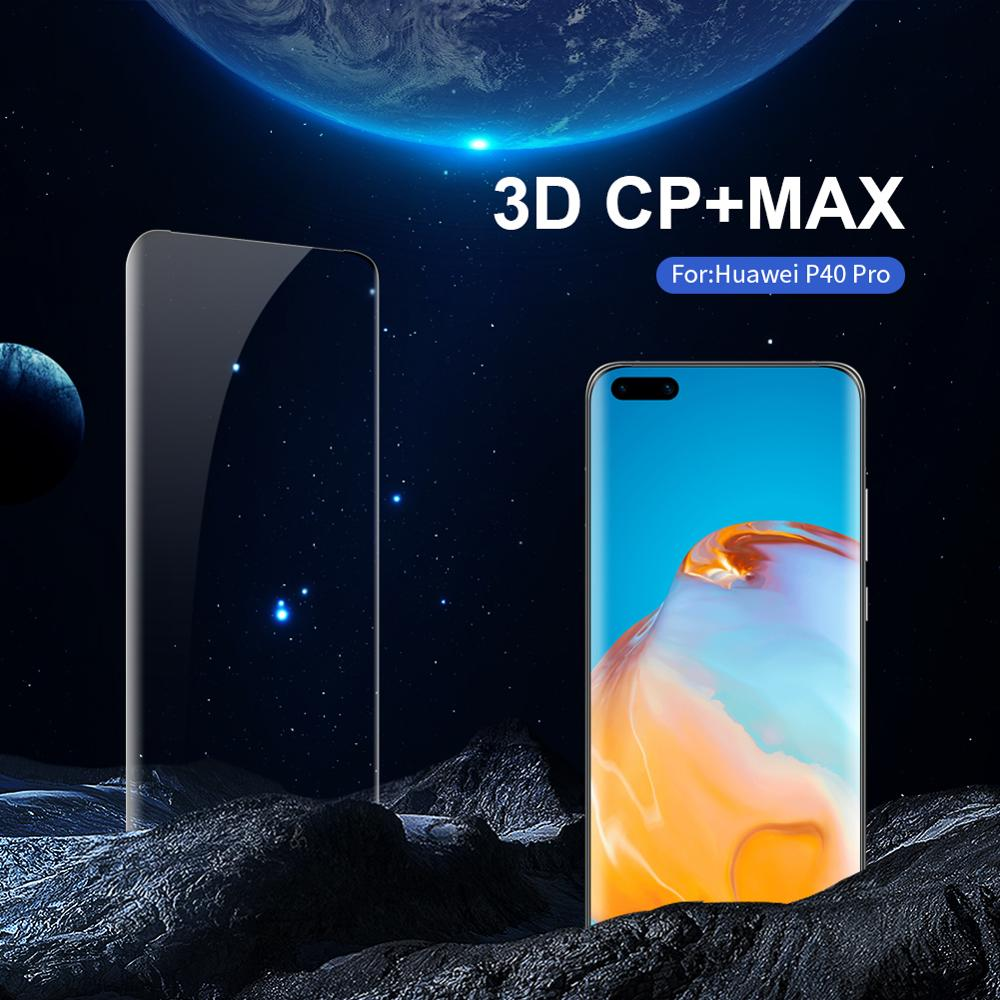 Huawei P40 Pro Tempered Glass P40 Pro Glass Screen Protector Nillkin 3D Full Coverage Safety Protective Glass For Huawei P40 Pro