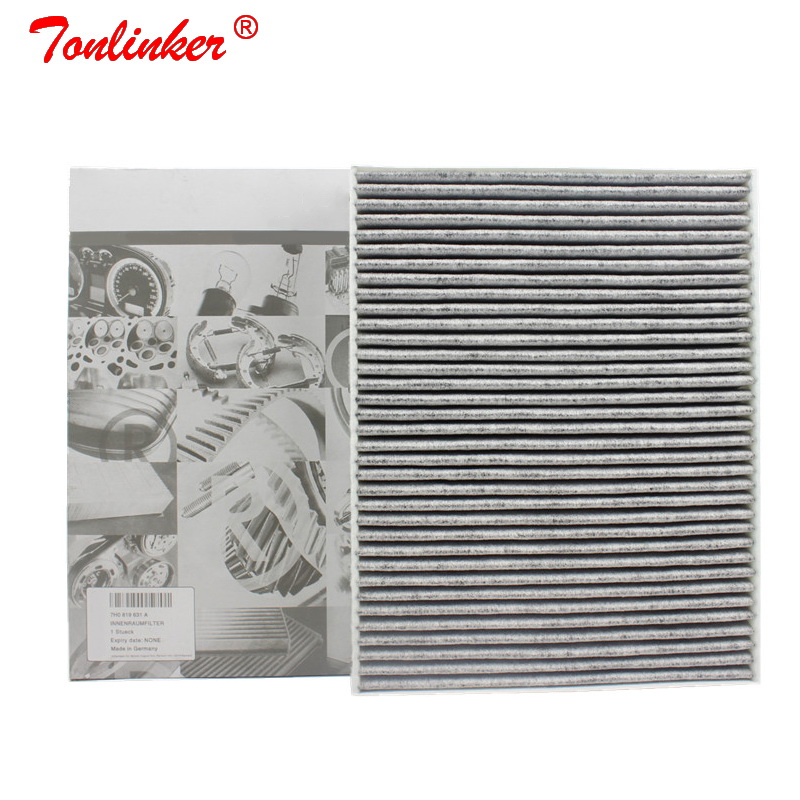 Cabin Filter 7H0819631 For Audi Q7 4L 2006 2015 3.0TDI 3.6FSI 4.2TDI Model 1Pcs Built in Carbon Air Conditioning  Filter-in Cabin Filter from Automobiles & Motorcycles