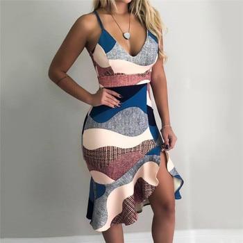Women Streetwear Patchwork Trumpet Dress  6