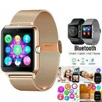 PYMH Edelstahl Bluetooth GSM SIM Smart Uhr Z60 Für Samsung iphone Android Smart Watches    -