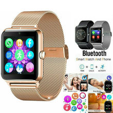 PYMH Stainless Steel Bluetooth GSM SIM Smart Watch Z60 For Samsung iphone Androi