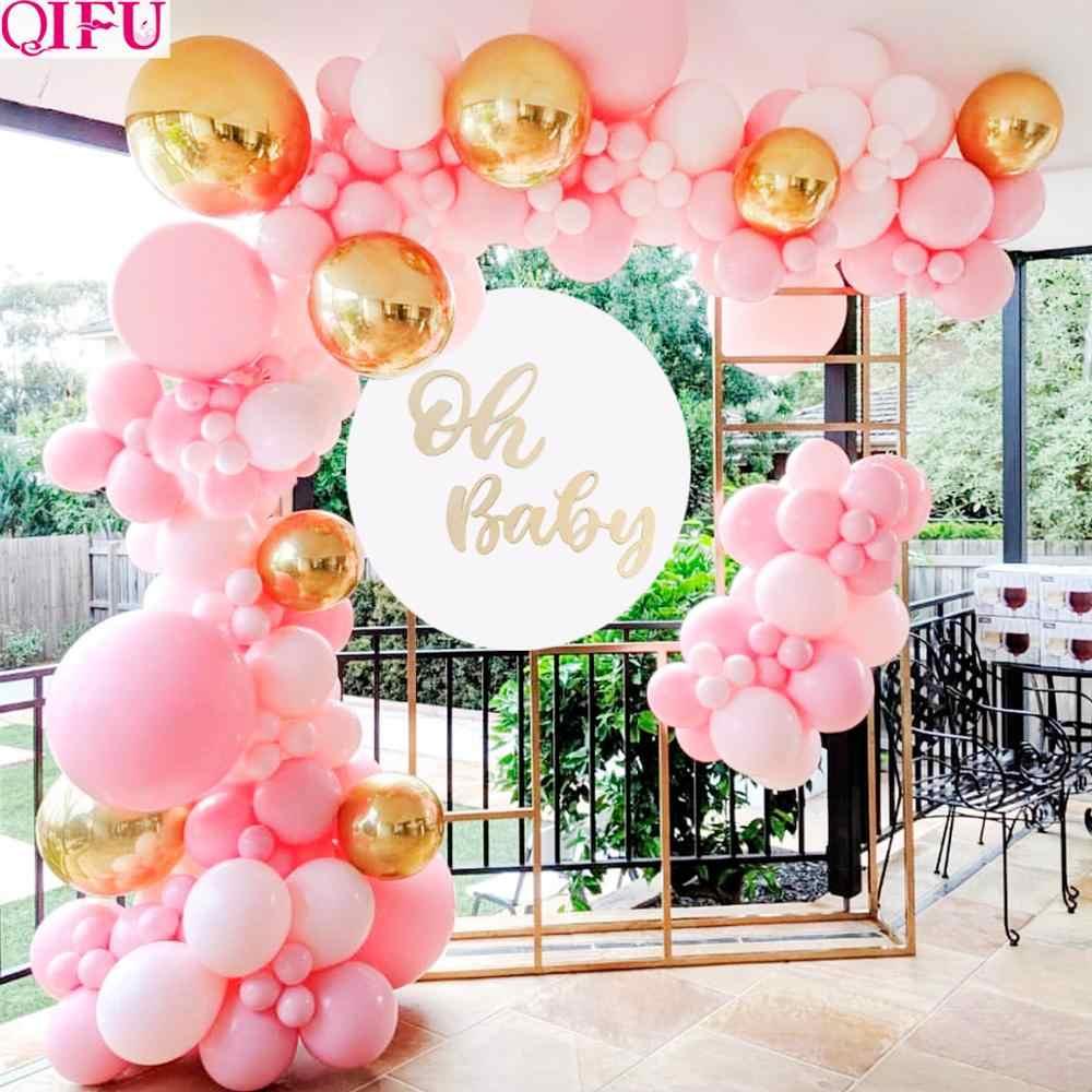 معكرون بالون سلسلة عدة أوه استحمام الطفل صبي أو فتاة طوق من البالونات عدة بالون جارلاند ذلك بلدي بالونات عيد ميلاد الأولى مجموعة بالون