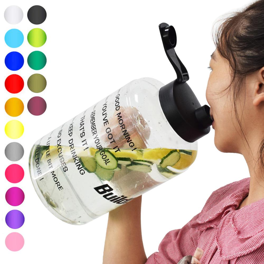 QuiFit Plastic Wide Mouth Big Drinking Water Bottles 2.5L 3.78L Gallon Jug BPA Free Sport Fitness Tourism GYM Travel Unique Item|Water Bottles| |  - AliExpress