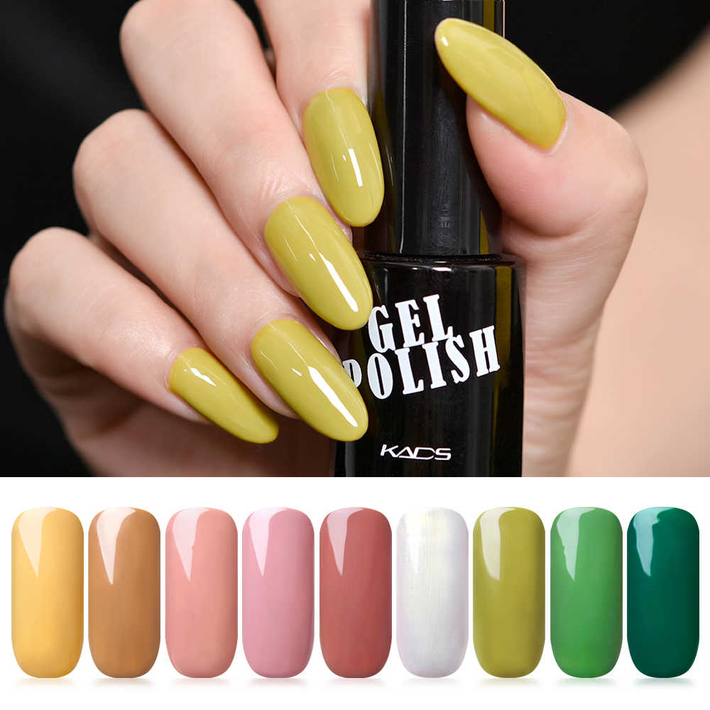 Kads 9.5 Ml Uv Gel Nail Polish Long Last Kecantikan Rendam Off Nail Glitter Uv Gel Lacquer Nail Art manicure LED Lem Lacquer