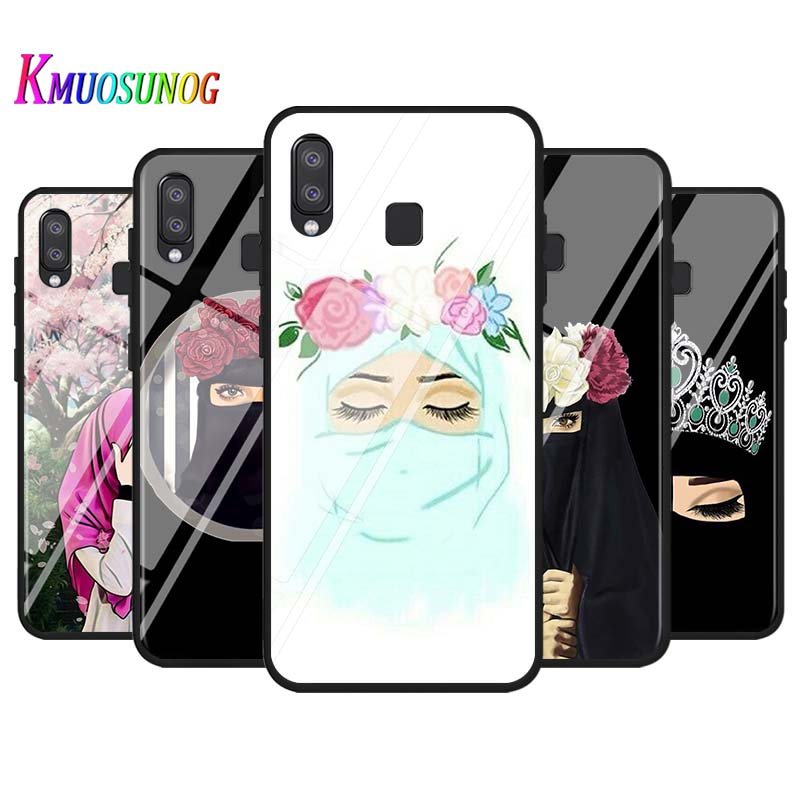 Muslim Woman In Hijab Face for Samsung Galaxy Note 20 Plus Ultra A90 5G A80 A70S A60 A50 A40 A20 A10 Super Bright Phone Case