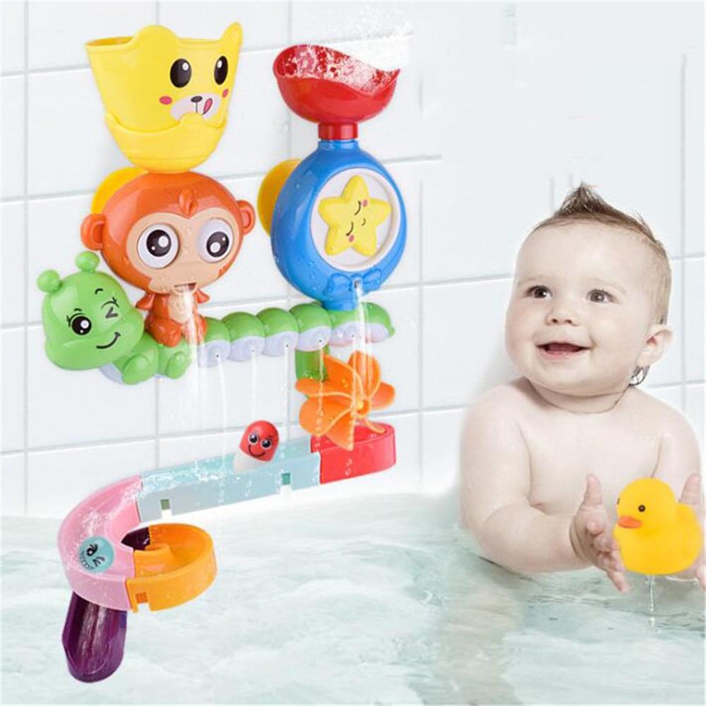 Baby Cartoon Monkey Classic Shower Bath Toy Animal Starfish Sprinkle Toys Bathroom Swimming Bathing Shower Educational Kid Toys