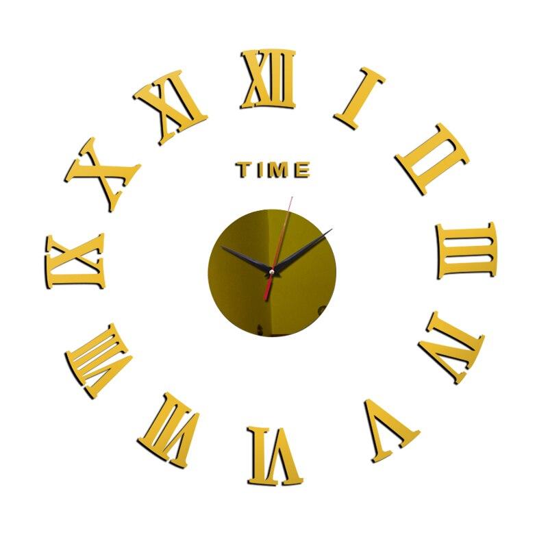 3D Wall Clock Acrylic Mirror Wall Stickers Modern DIY Wall Clocks Home Decor Living Room Quartz Needle reloj de pared 2020 NEW 18
