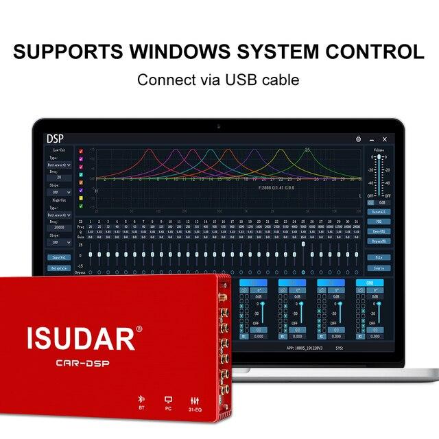 ISUDAR DA08 Auto Verstärker DSP Auto Digitale Audio Verarbeitung 1200W MAX Bluetooth 5,0 AB Klasse 8 Kanäle Eingang