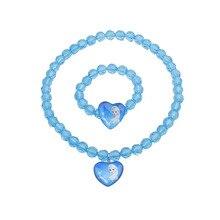 Бусы принцессы Эльзы и Анны, детское ожерелье, браслет для девочек, подарки на день рождения, декоративные украшения для принцесс