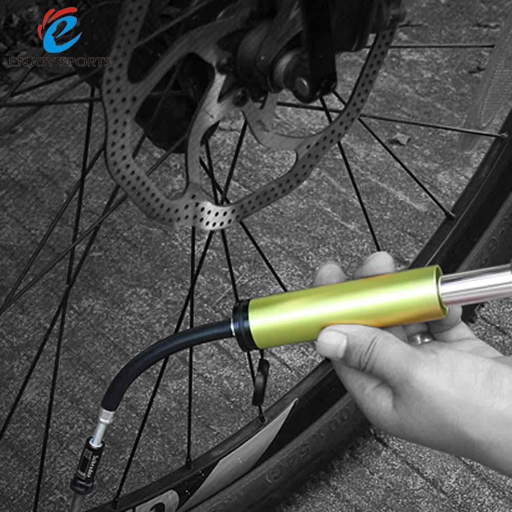 Spor ve Eğlence'ten Bisiklet Pompaları'de BaseCamp bisiklet hava pompası Mini taşınabilir bisiklet lastiği topu şişirme süper hafif bisiklet aksesuar 9bar 130psi alüminyum alaşımlı title=