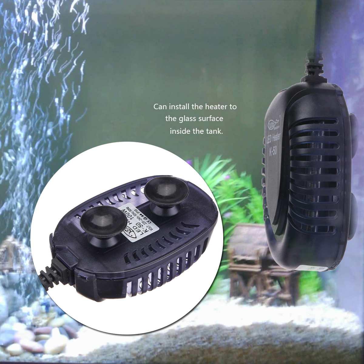 Новый 25 Вт/50 Вт/75 Вт/100 Вт подводный для аквариума обогреватель для аквариума светодиодный цифровой постоянный температурный энергосберега...