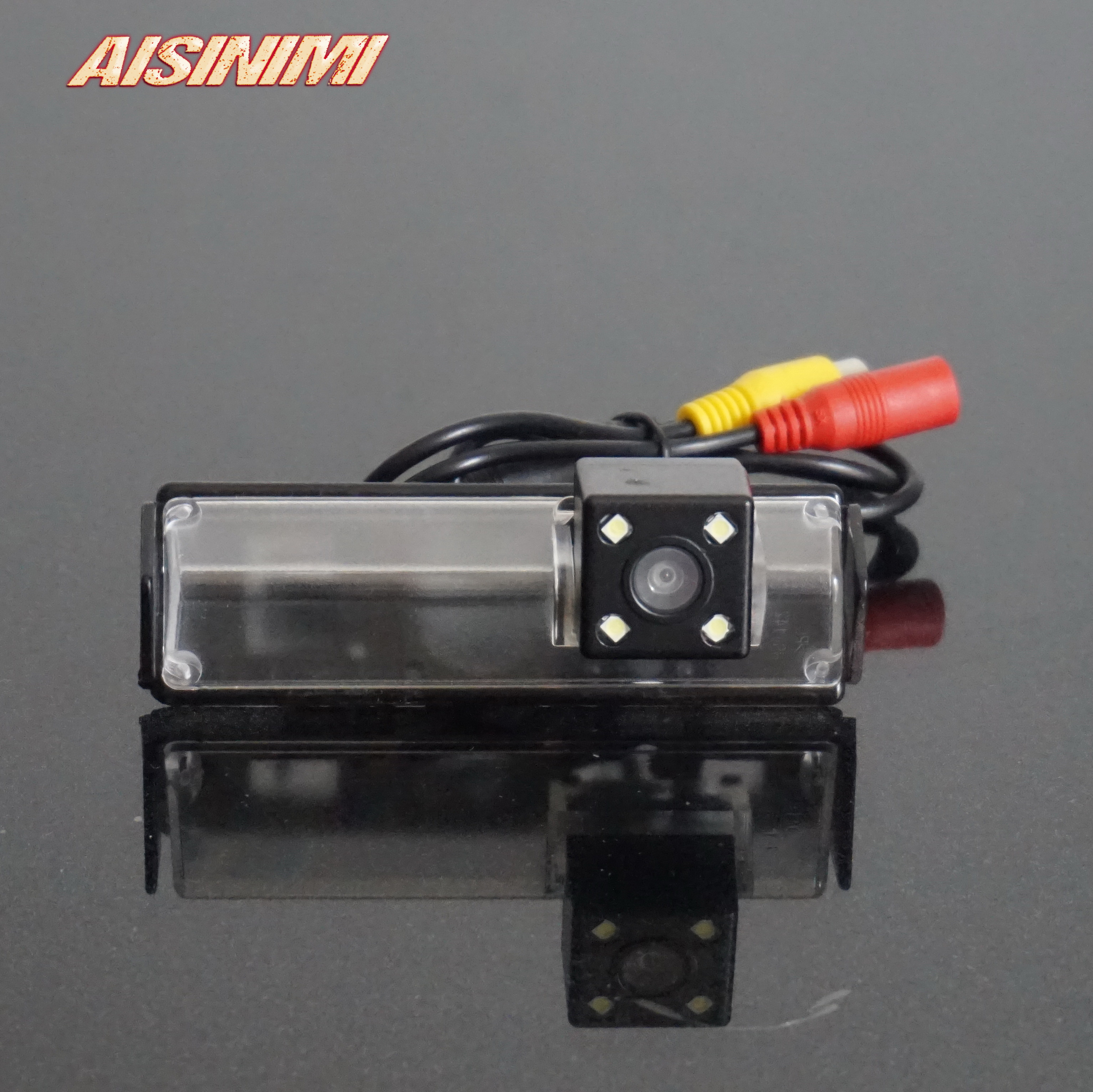 HD 720p Rear View Back Up Reverse Parking Camera in License Plate Waterproof Night Version NTSC for Cadillac XT5 2016-2018