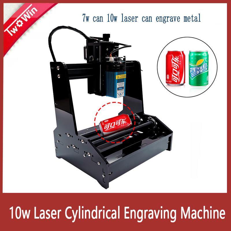 <font><b>10W</b></font> <font><b>Laser</b></font> Small Cylindrical Engraving Machine Engrave Cylindrical Stainless Steel Metal Automatic DIY Cutting Plotter <font><b>CNC</b></font> Router image