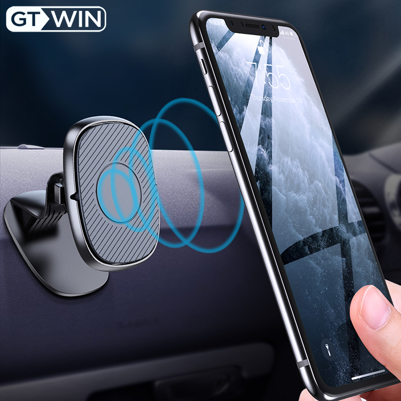 GTWIN Universal Car Phone Holder Magnetic Air Vent Magnet Holder For IPhone Samsung Xiaomi Stander GPS Car Mount Dashboard