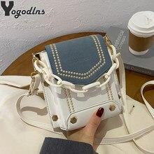 Mini sacs à bandoulière en cuir PU pour femmes, sacoche à rabat, portefeuille de styliste avec chaîne, petits sacs à main