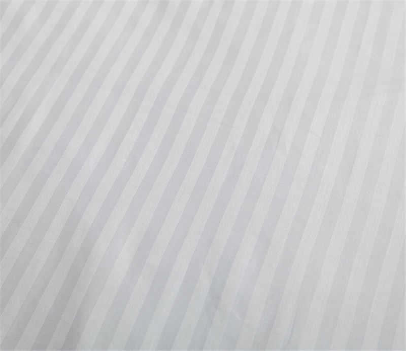Luxury 1pc 100 Satin Cotton Pure White Stripe Hotel Duvet