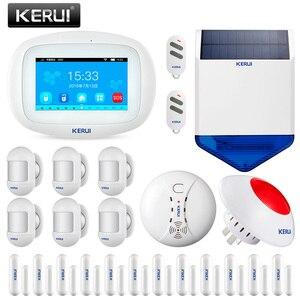 Image 2 - KERUI K52 WIFI GSM מעורר מערכות 4.3 אינץ מגע מלא צבע תצוגת אבטחת בית אזעקה עם חיישן אלחוטי סירנה מצלמה
