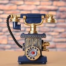Ретро изделия из смолы копилка креативное украшение дома Европейский телефон украшение Копилка украшение