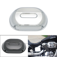 Motorcycle Chrome Air Filter Cleaner Cover Cap Protetcor For HONDA OEM SHADOW SPIRIT VT750 DC 2001 2007 BLACK WINDOW 2000 2007