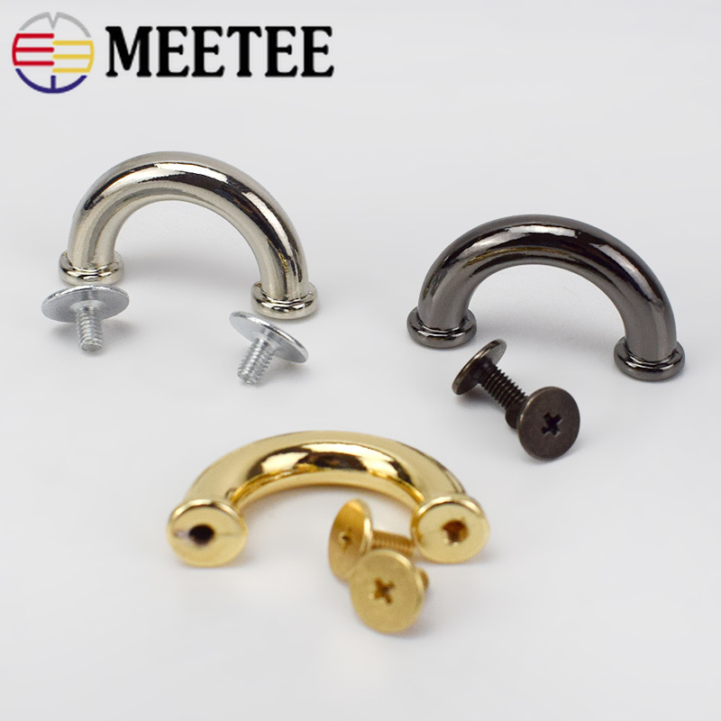 10/20pcs <font><b>15mm</b></font> Metal <font><b>Buckles</b></font> DIY Handbag Leather Bags Strap Hangers Garment Decoration Hardware Accessories BD302 image