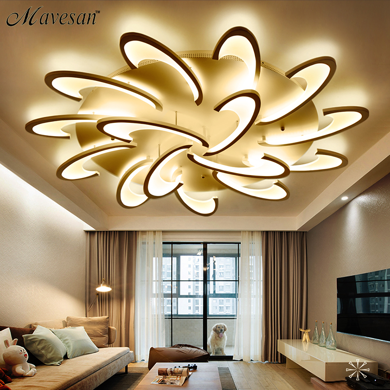 Us 57 0 49 Off Remote Control Led Ceiling Light With Ultra Thin Acrylic Lamp For Living Room Bed Flush Mount Lamparas De Techo In