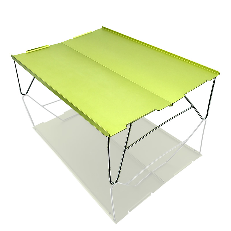 Mini Foldable Aluminum Table Portable Outdoor Barbecue Camping Furniture Computer Desk