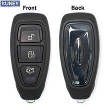 Carcasa para mando a distancia de coche con 3 botones para Ford Focus c-max Mondeo Kuga Fiesta Galaxy con hoja de repuesto para coche