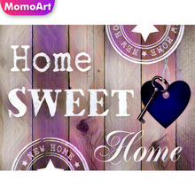 MomoArt 5D DIY Diamond Painting Cartoon Sweet Home Cross Stitch Embroidery Full Square Picture Rhinestones Decoration